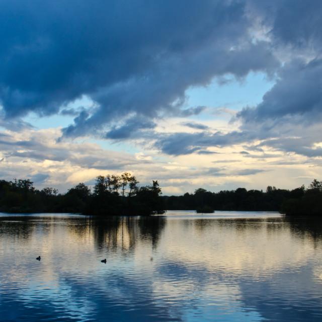 """Last rays at Stocker's Lake"" stock image"