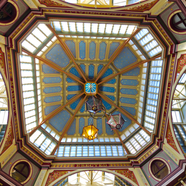 """Leadenhall ceiling"" stock image"