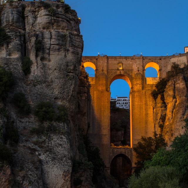 """""""Puente Nuevo of Ronda"""" stock image"""