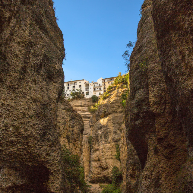 """Canyon of Ronda"" stock image"
