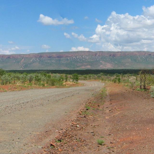 """Australian outback road"" stock image"