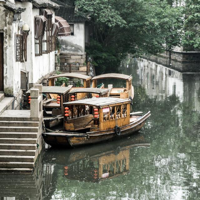 """Suzhou canal"" stock image"