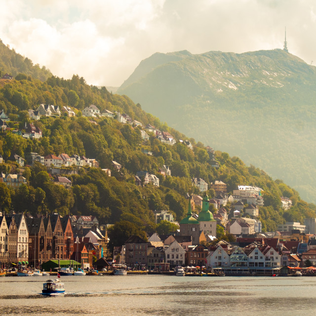 """Bergen, Norway"" stock image"