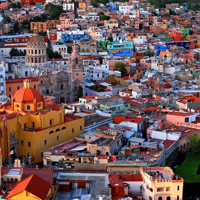 """""""Guanajuato, Mexico Panorama"""" stock image"""