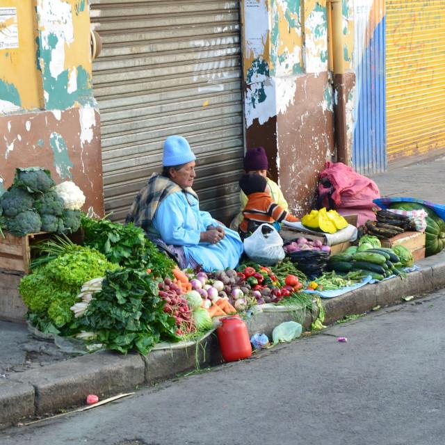 """La Paz Market"" stock image"