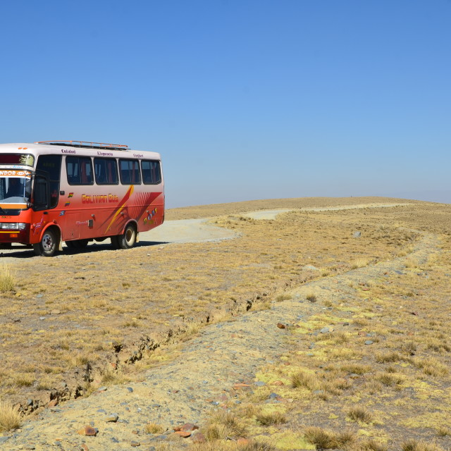 """Bolivian Bus"" stock image"