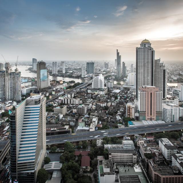 """""""Bangkok Skyline, Thailand"""" stock image"""