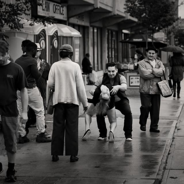 """Street Dancing"" stock image"