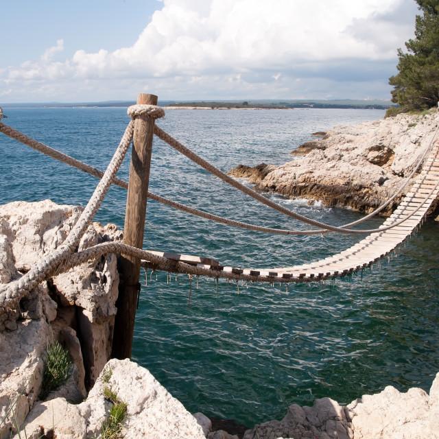 """""""Hanging bridge"""" stock image"""