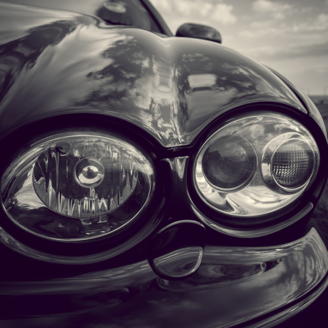 """Car headlights"" stock image"