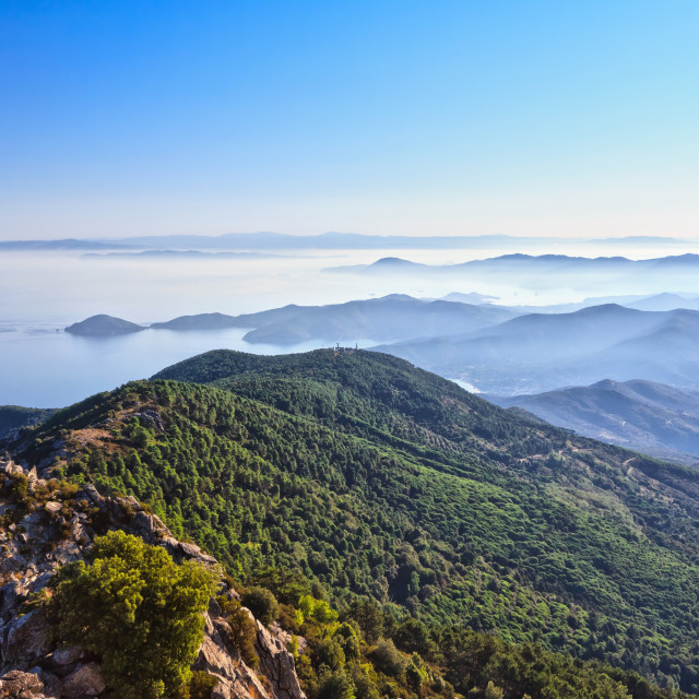 """Elba Island overview"" stock image"