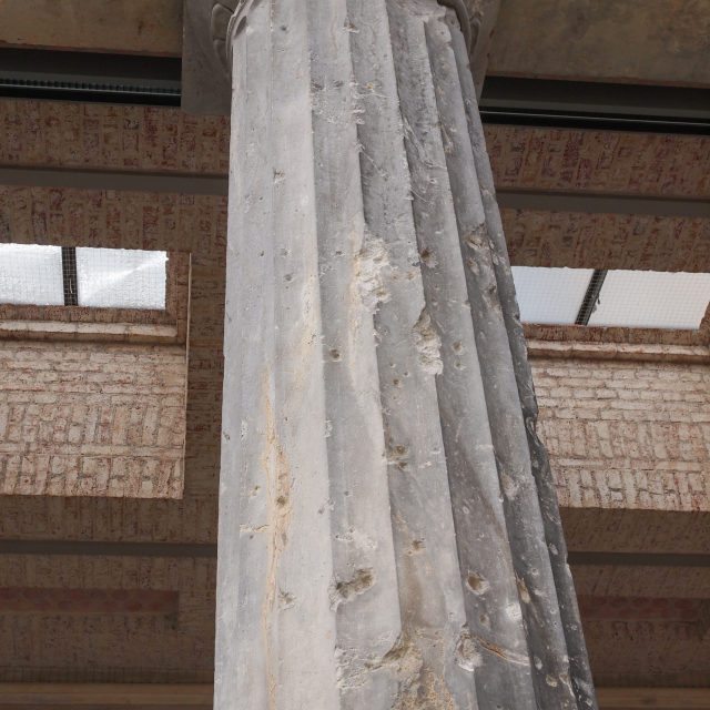"""""""Bombed column in Berlin"""" stock image"""