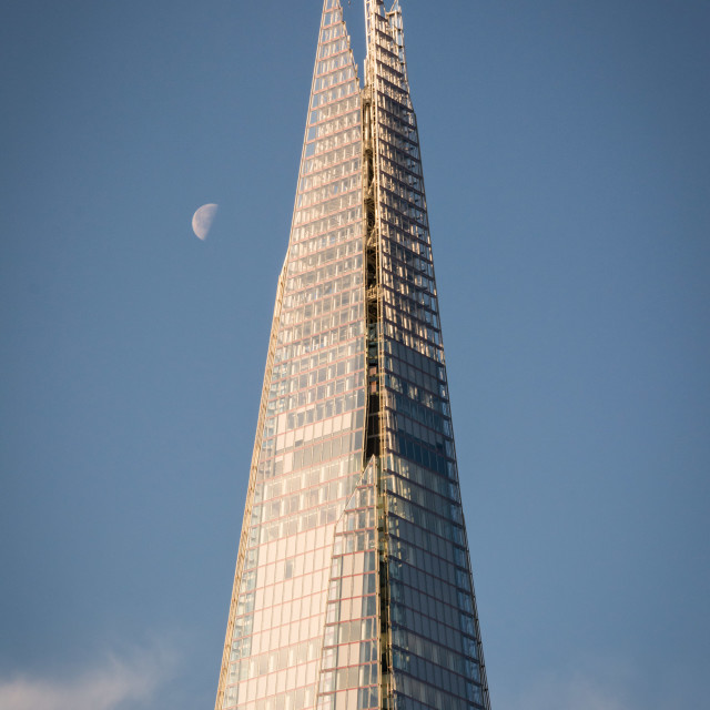 """Shard and moon"" stock image"