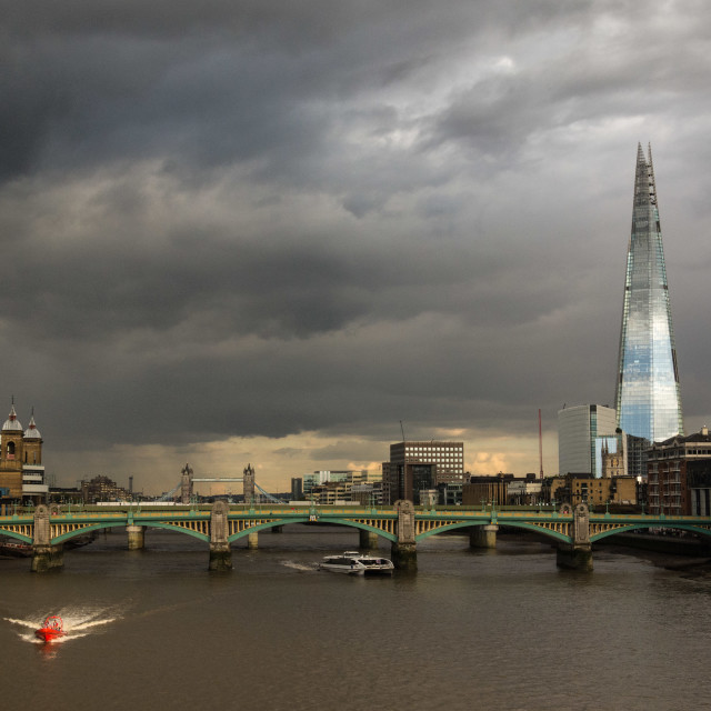 """London after the rain"" stock image"