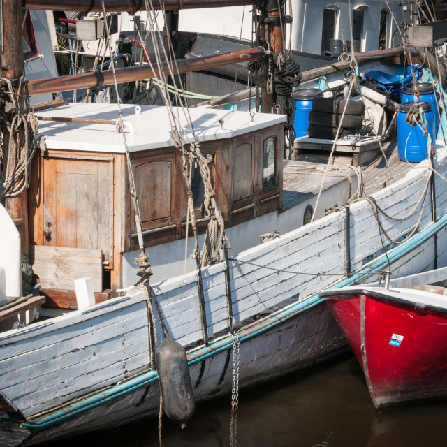 """Amsterdam Boats"" stock image"