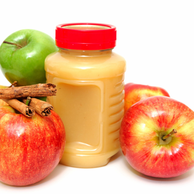 """""""Applesauce And Apples"""" stock image"""