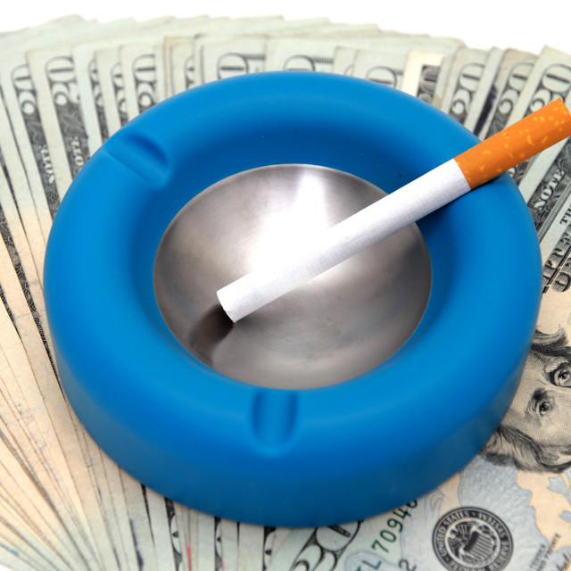 """Cost Of Smoking"" stock image"