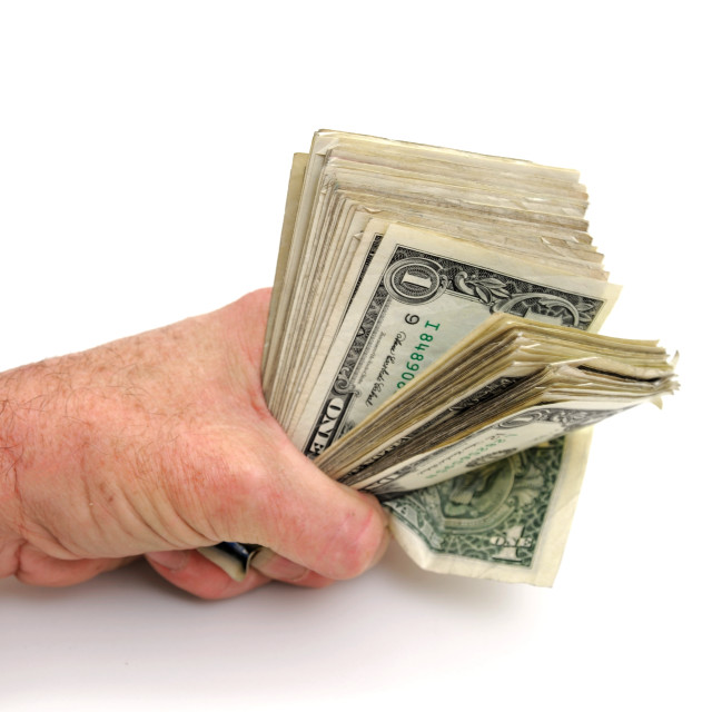 """Fist Full Of Dollars"" stock image"
