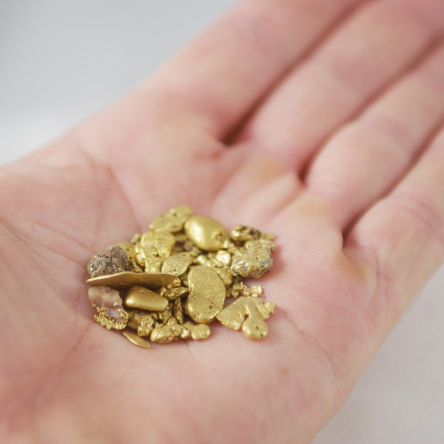 """Handful Of Gold Nuggets"" stock image"