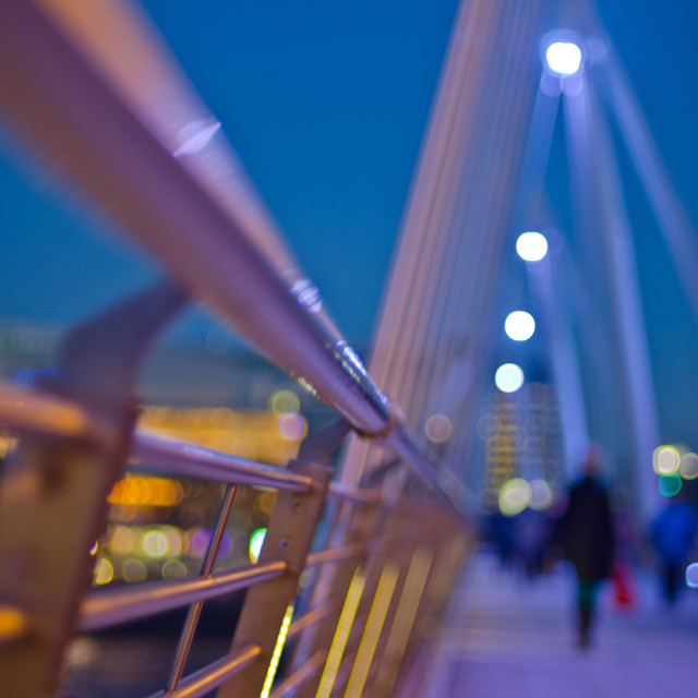 """Hungerford Bridge, London"" stock image"