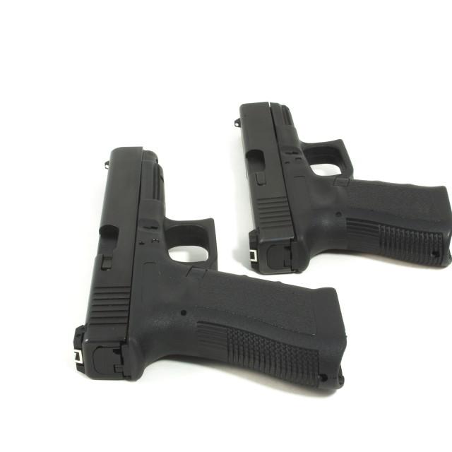 """Two semi automatic pistols"" stock image"