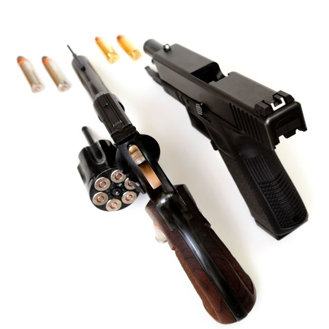 """Revolver And Pistol"" stock image"