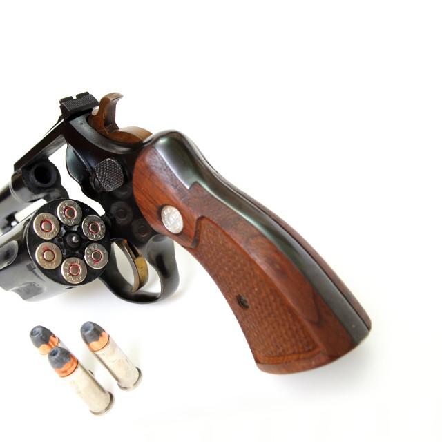 """38 Caliber Revolver And Ammunition"" stock image"