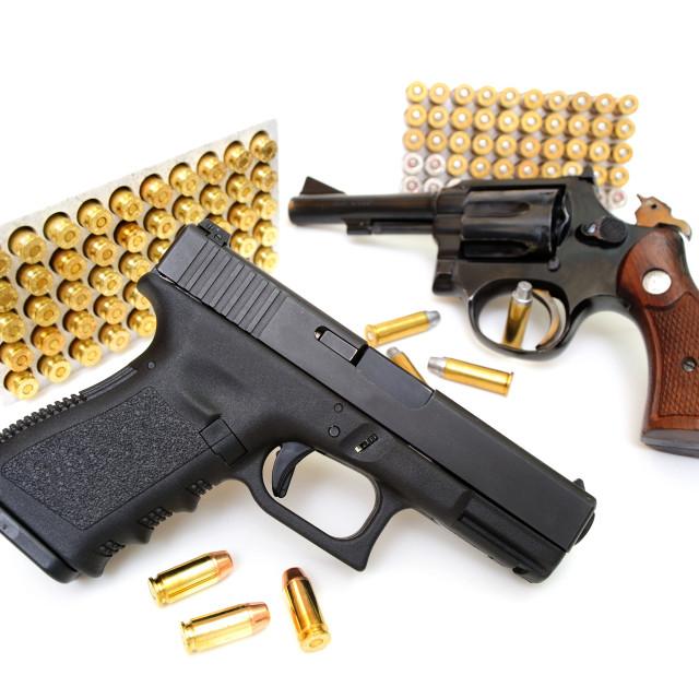 """Pistol and Revolver"" stock image"