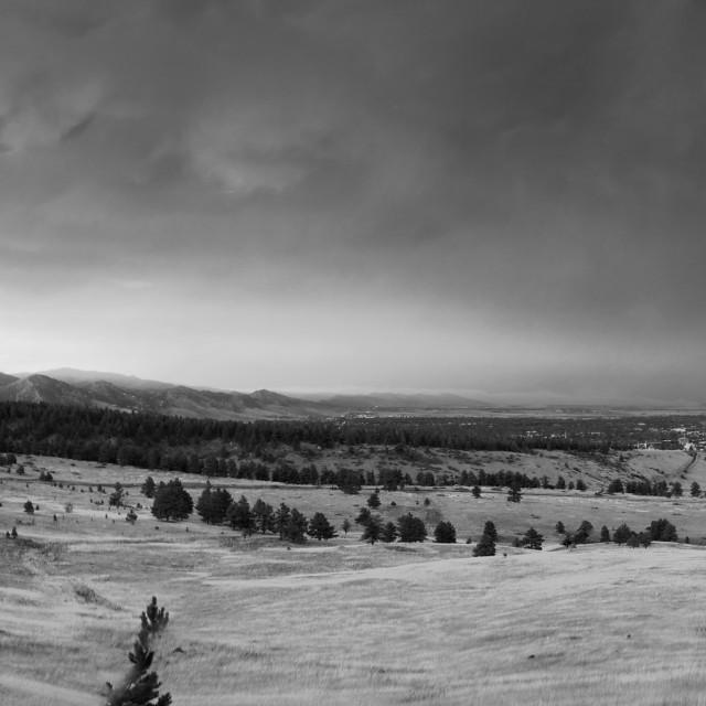 """""""Boulder Storm Panorama"""" stock image"""