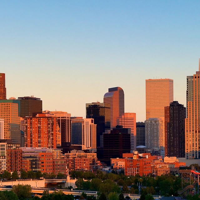 """Denver Skyline"" stock image"
