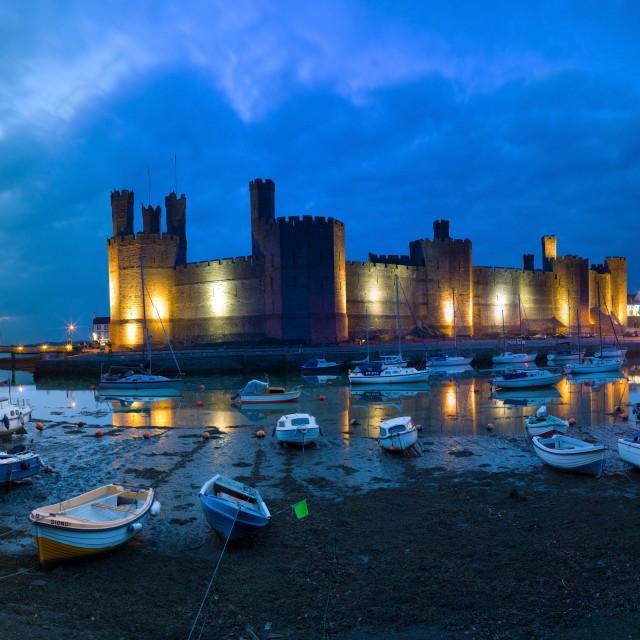 """Caernarfon Castle Super High Resolution Panorama"" stock image"