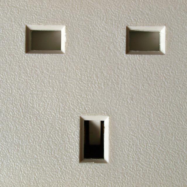 """British plug socket"" stock image"