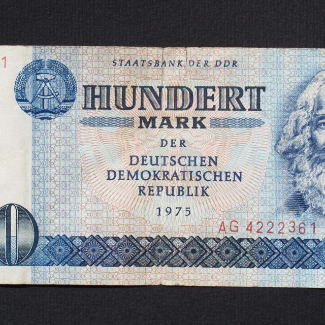 """DDR banknote"" stock image"
