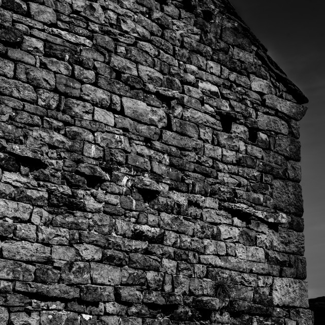 """Stone Barn Mono (wide)"" stock image"
