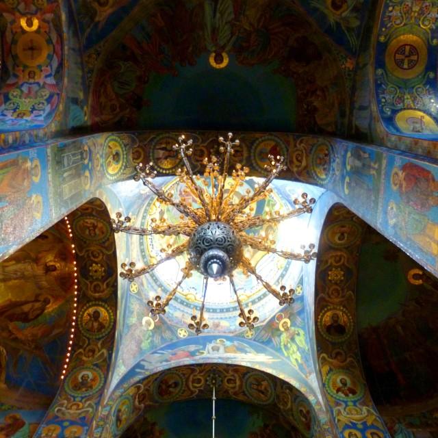 """Church of Savior on Spilled Blood, St Petersburg"" stock image"