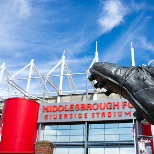 """""""Middlesbrough Riverside Stadium (13)"""" stock image"""
