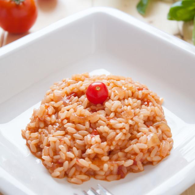 """""""Risotto al pomodoro"""" stock image"""