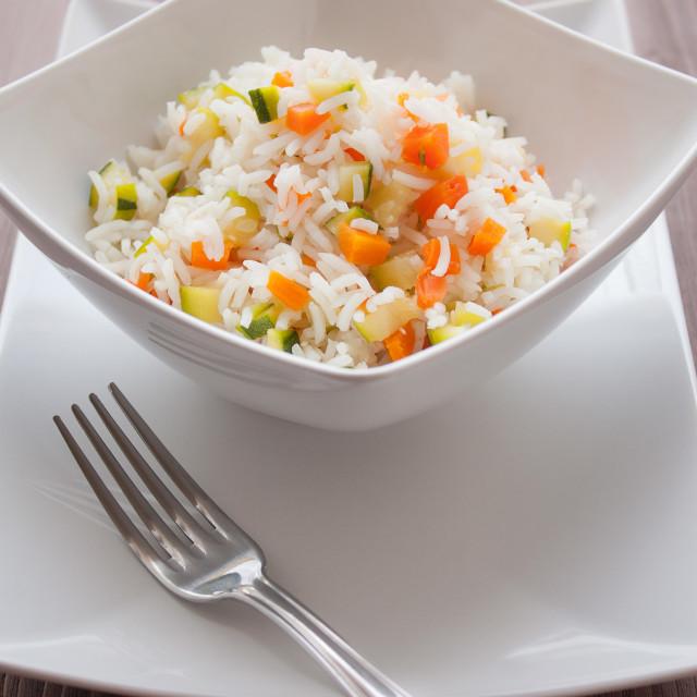 """Basmati Rice with veggies"" stock image"
