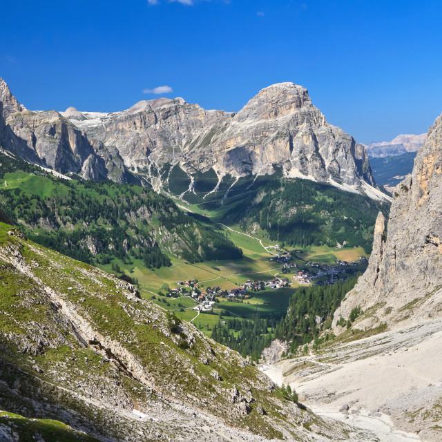 """""""Dolomiti - Colfosco in Val Badia"""" stock image"""