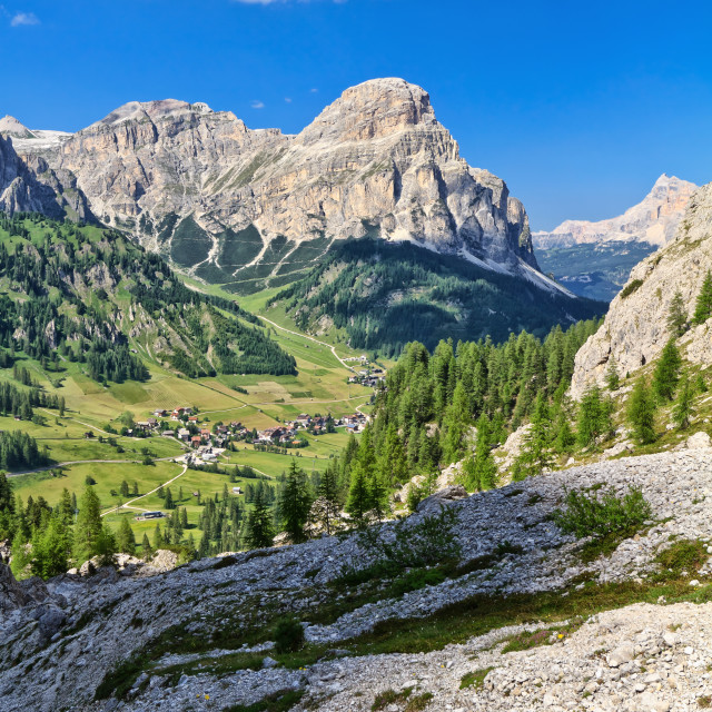 """Dolomiti - high Badia Valley"" stock image"