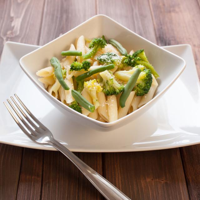 """""""Pasta vegetariana"""" stock image"""