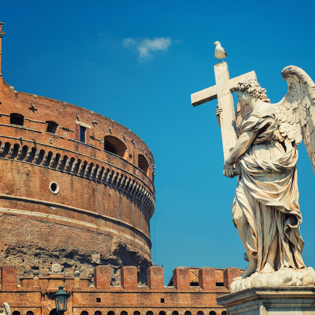 """Rome - Angel and SantAngelo Castle"" stock image"