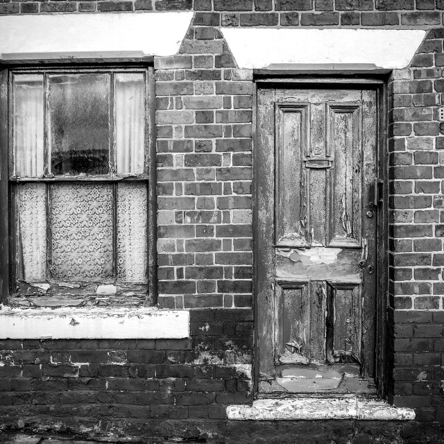 """Derelict Terraced House ."" stock image"