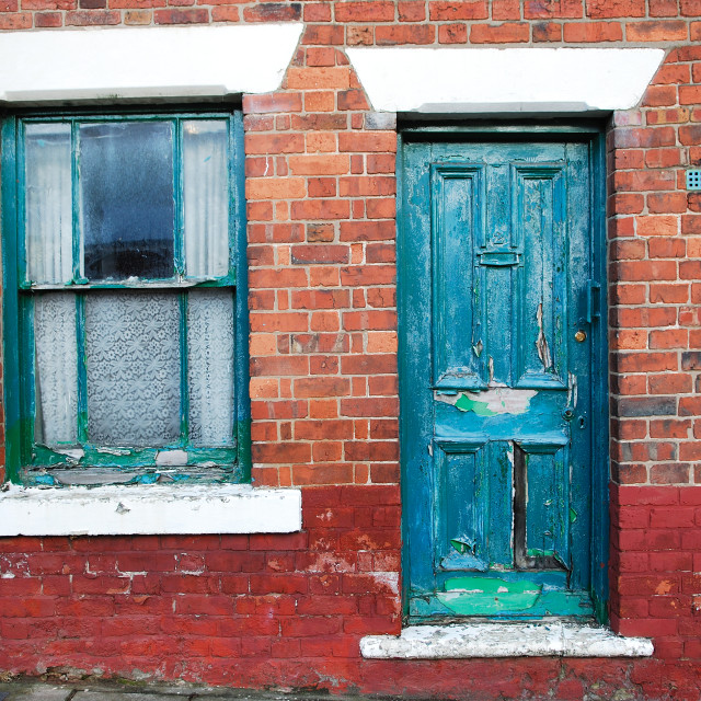 """""""Old Terraced House ."""" stock image"""