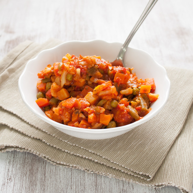 """Cooked veggies bowl"" stock image"