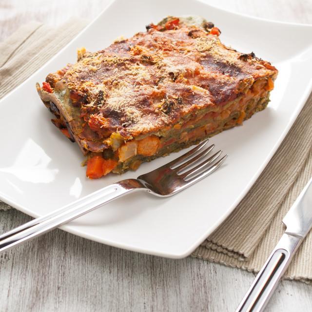 """""""Vegetarian lasagne"""" stock image"""
