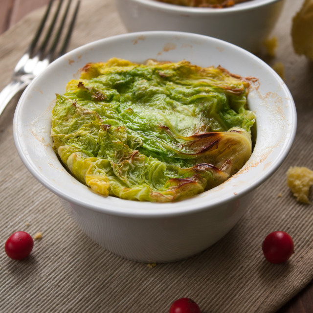 """""""Filled cabbage in bowl"""" stock image"""