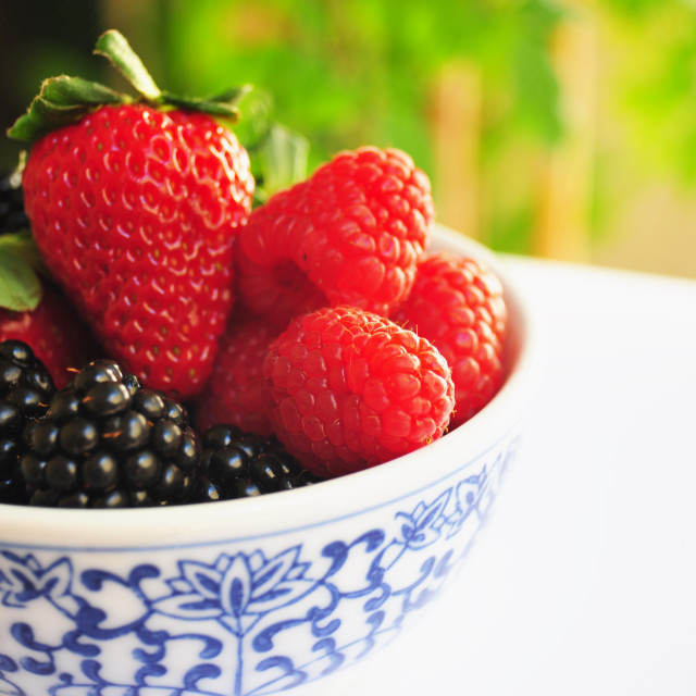 """Berries In A bowl"" stock image"