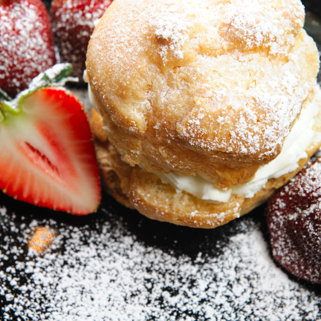 """Strawberry And Creampuff"" stock image"