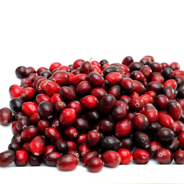 """Isolated Cranberries"" stock image"
